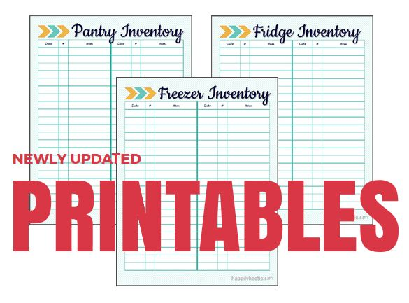 Fridge, Freezer and Pantry Inventory Printables can help organize any homemaker! Hang them up and keep them updated to get full use out of them!