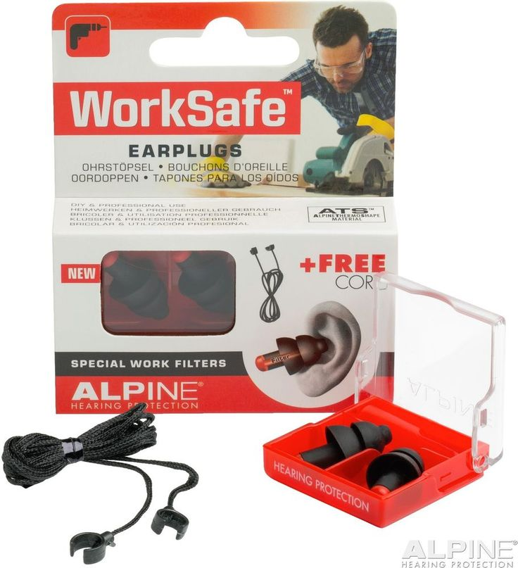 Alpine Worksafe Earplugs Work Hunting Shooting Ear Plugs Noise Safety Works Hunt