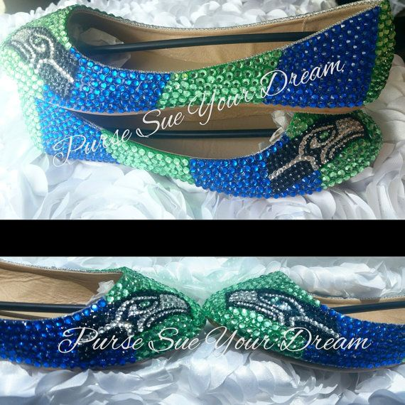 Seattle Seahawks Themed Custom Ballet Flats Shoes - Seahawk Football - Custom…                                                                                                                                                                                 More