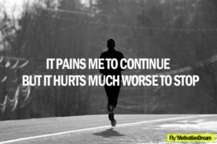 My thoughts this morning before my 8 mile run...