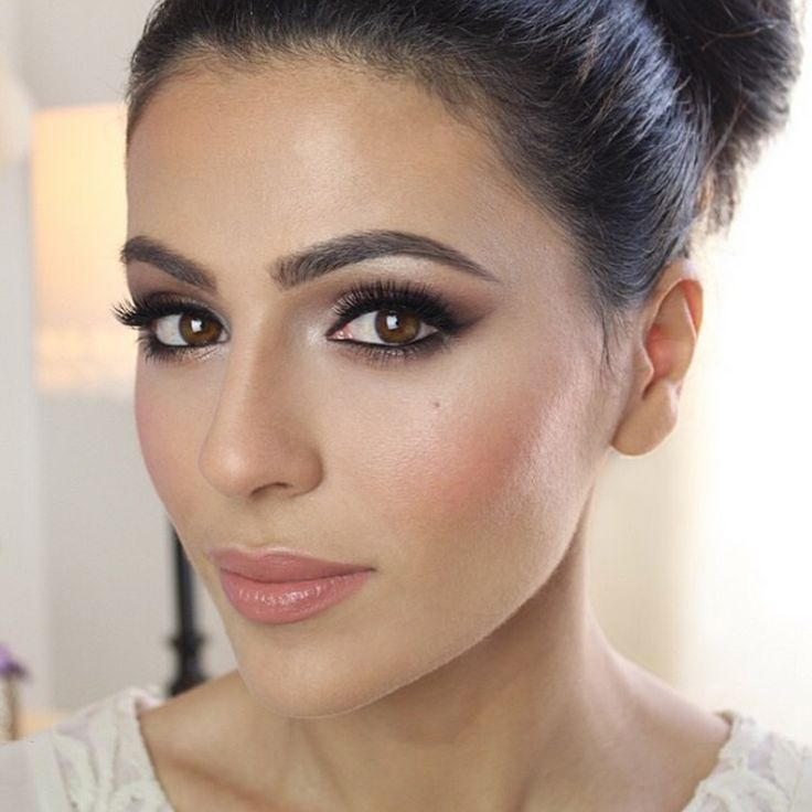Teni Panosian - love the eyebrows.  pretty and natural. another good wedding look  I like the smokey, but not too smokey look for the eyes. May be too dark for my complexion?