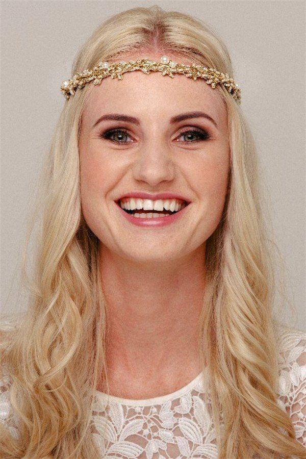 gold bridal hairband – Helen Irene Handmade