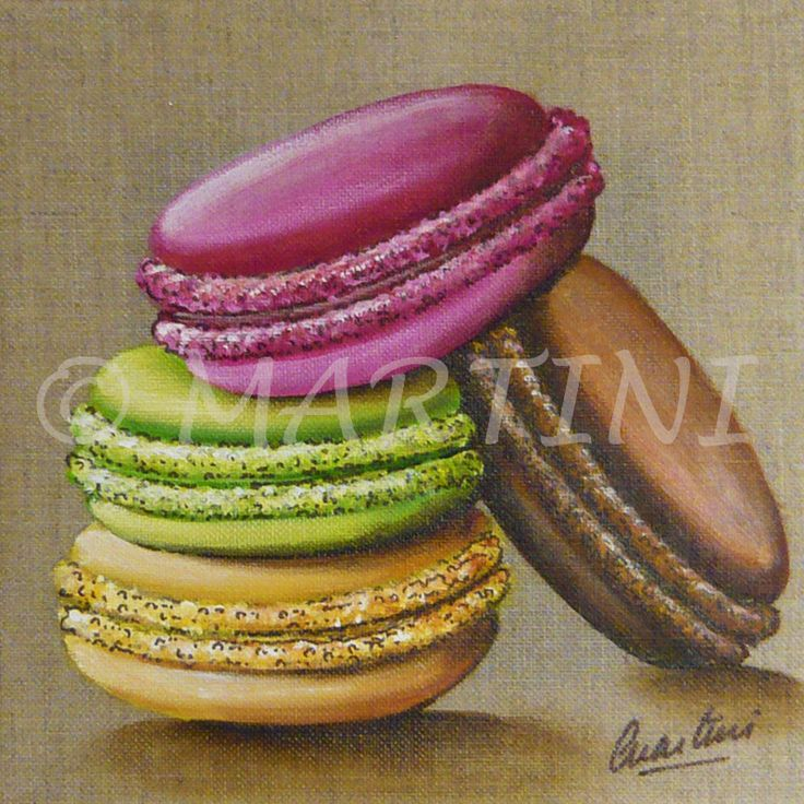 macaroons painting