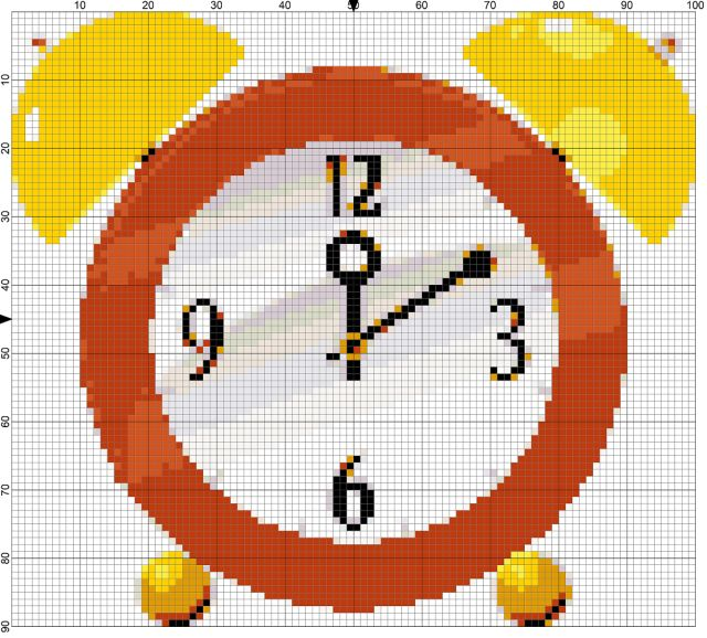 Free Needlepoint Chart to Stitch for Daylight Savings Time: Day 66 of the 365 Needlepoint New Year's Resolutions Challenge