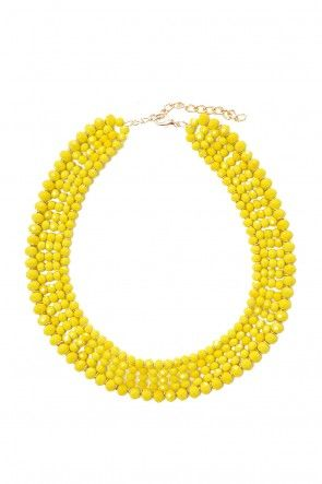 Rebecca Beaded Necklace in Yellow