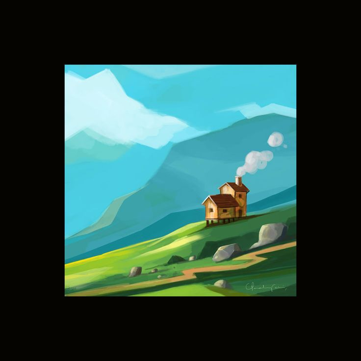 #Mountain and House