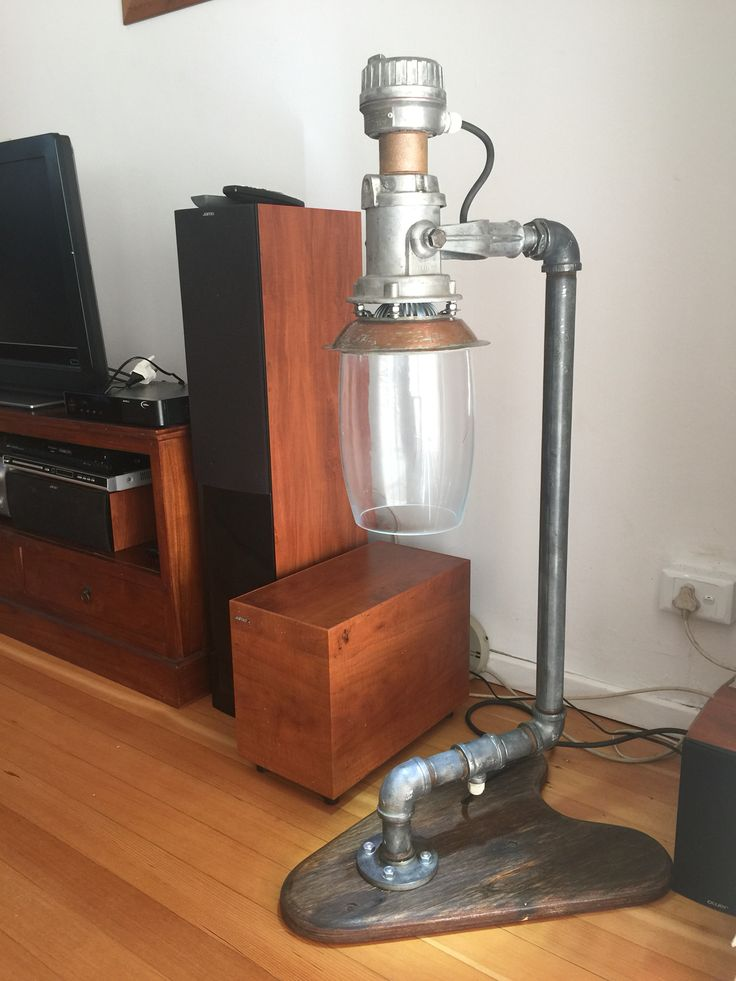 Vintage Industrial lamp - all recycled materials