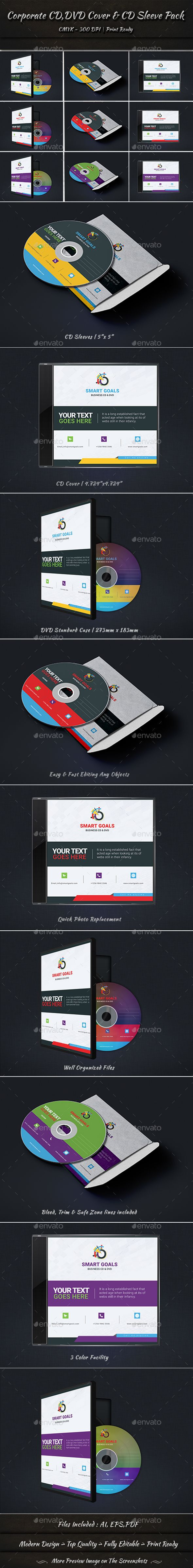 Corporate CD DVD Cover & CD Sleeve Pack - #CD & #DVD Artwork Print #Templates Download here: https://graphicriver.net/item/corporate-cd-dvd-cover-cd-sleeve-pack/19378910?ref=alena994