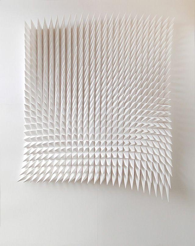 New Geometric Paper Art from Matthew Shlian