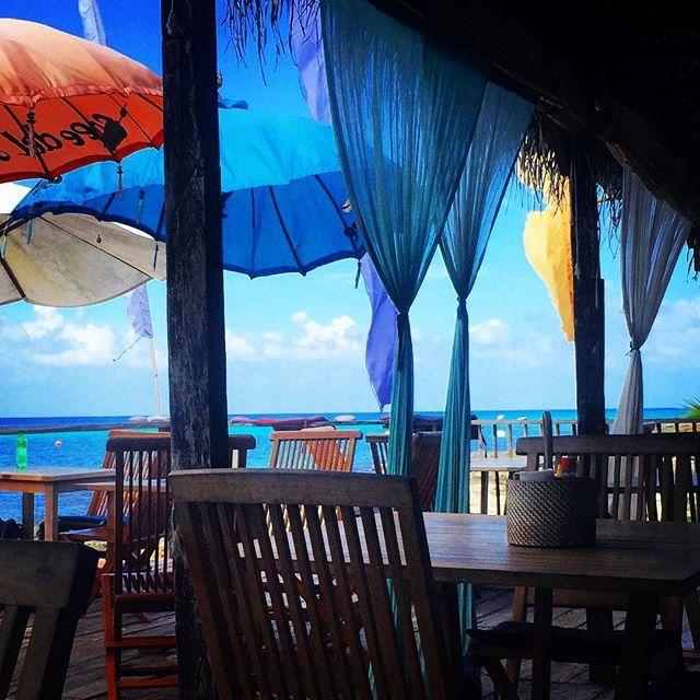 Bästa stället vi har hittat hittills här i Mexico! Café del Mare in Cozumel! ☀️ #mexico #cozumel #paradise