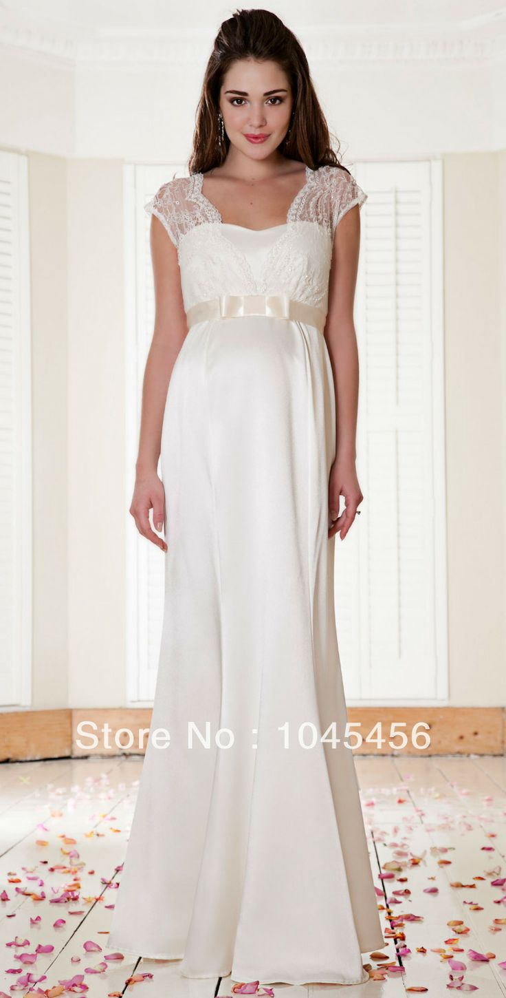 New Vestidos Free Shipping Cap Sleeves Lace Belt Maternity Wedding Dress  Bridal Gown Women Spring Chiffon346 best Maternity Bridal Gowns images on Pinterest   Maternity  . Plus Size Maternity Wedding Dresses. Home Design Ideas