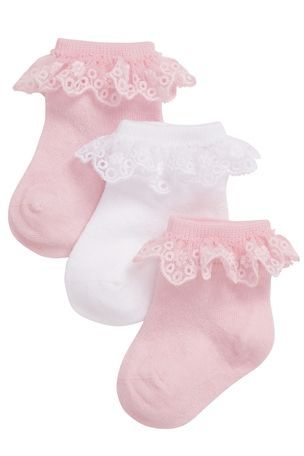 Buy Pretty Lace Socks Three Pack (0-18mths) from the Next UK online shop
