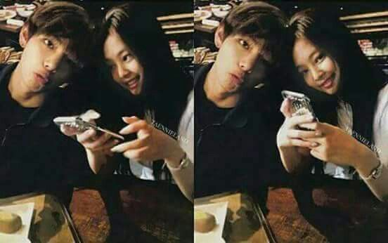 BTS and BLACKPINK Jennie and Taehyung