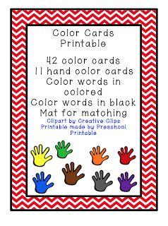 Preschool Printables: Colors