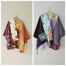CUSTOM Upcycled KIMONO Tunic Wrap/Petite to by RebirthRecycling