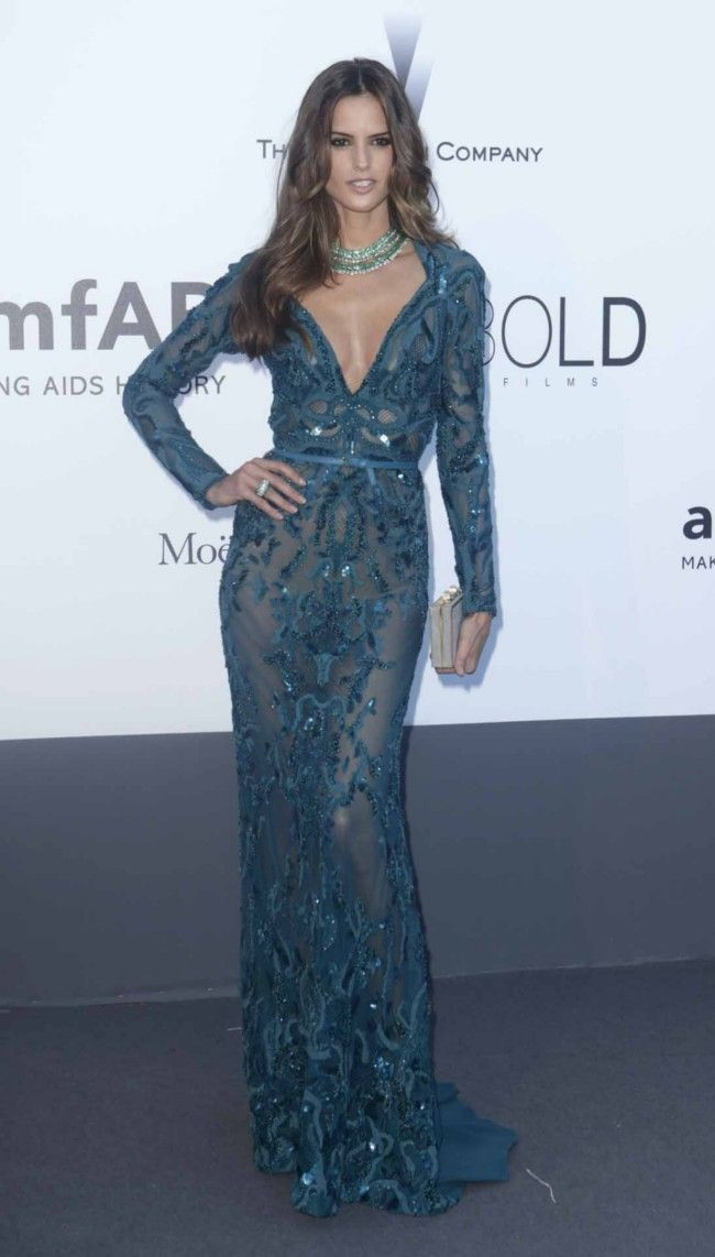 The 66th Cannes Film Festival 2013 Red Carpet, Izabel Goulart wearing Emilio Pucci