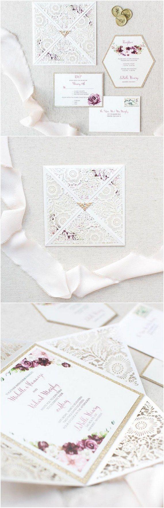 1617 best Wedding Invitations images on Pinterest