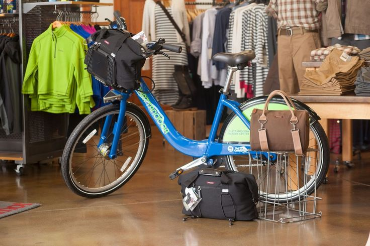 The Po Campo Bike Share Bag is available at Rock/Creek at 2 North Shore