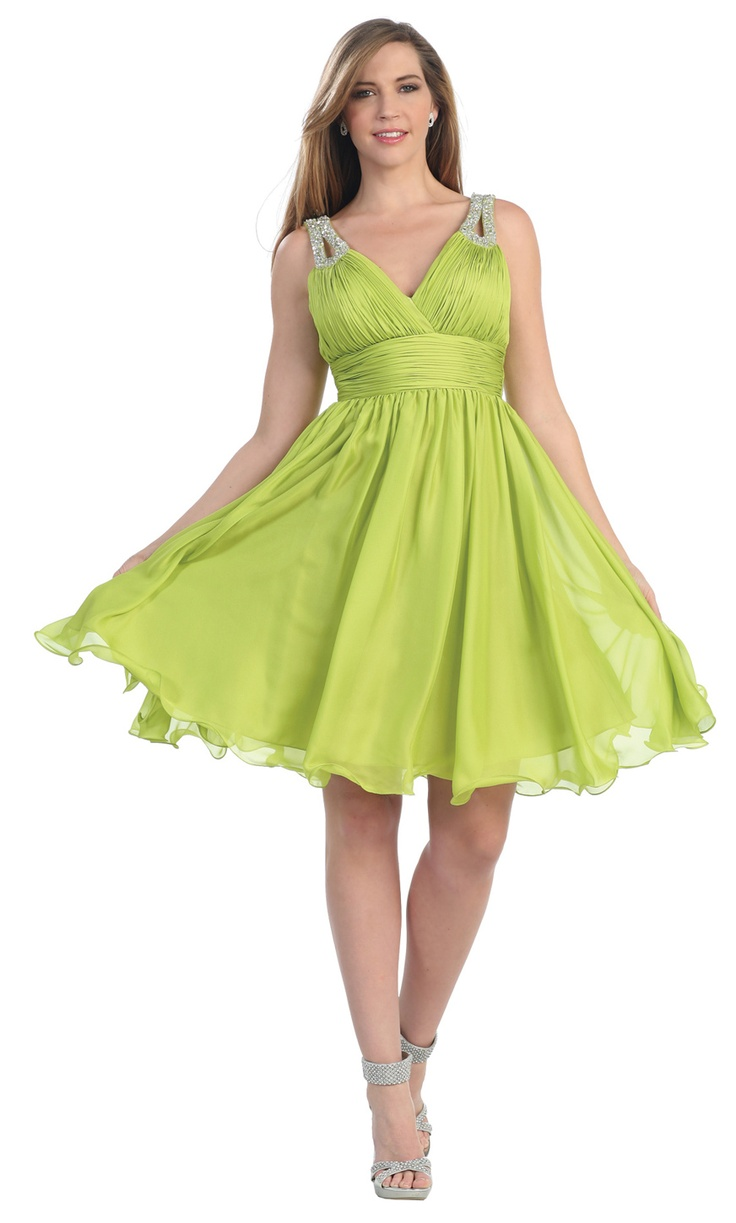 567 best lime green dress images on pinterest lime lime for Short green wedding dresses