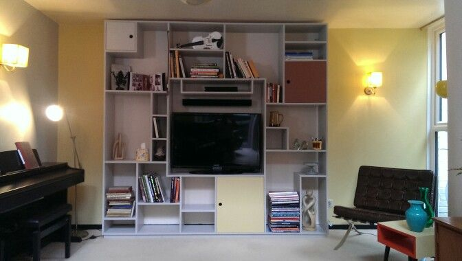 Book Shelf TV Cabinet Made By Me For The Great Interior Design Challenge