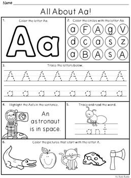 alphabet letters a z kindergarten alphabet worksheets kindergarten pinterest alphabet. Black Bedroom Furniture Sets. Home Design Ideas