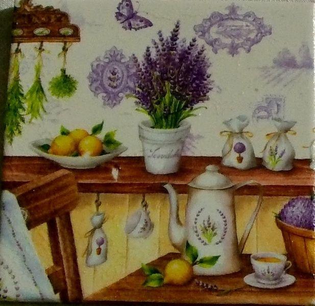 """Wandbild Geschenk """"Lavendel""""  von Manu's kleine Vintage Schatzkiste auf DaWanda.com"""