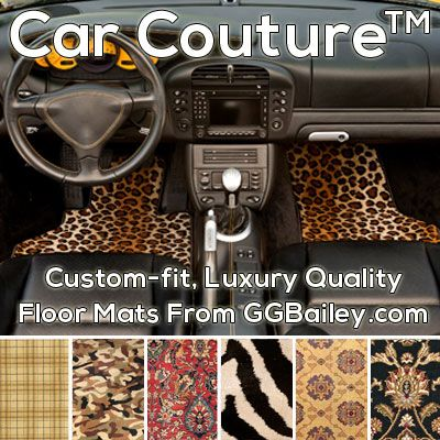 Car Couture From Gg Bailey Features Luxury Quality Floor Mats In Patterns Such As Leopard Zebra Oriental Plaid And Camouflage