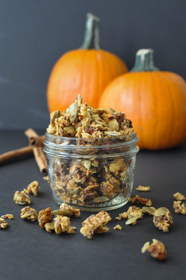 Paleo Pumpkin Spice Granola Cereal {nut-free} | Fed and Fit