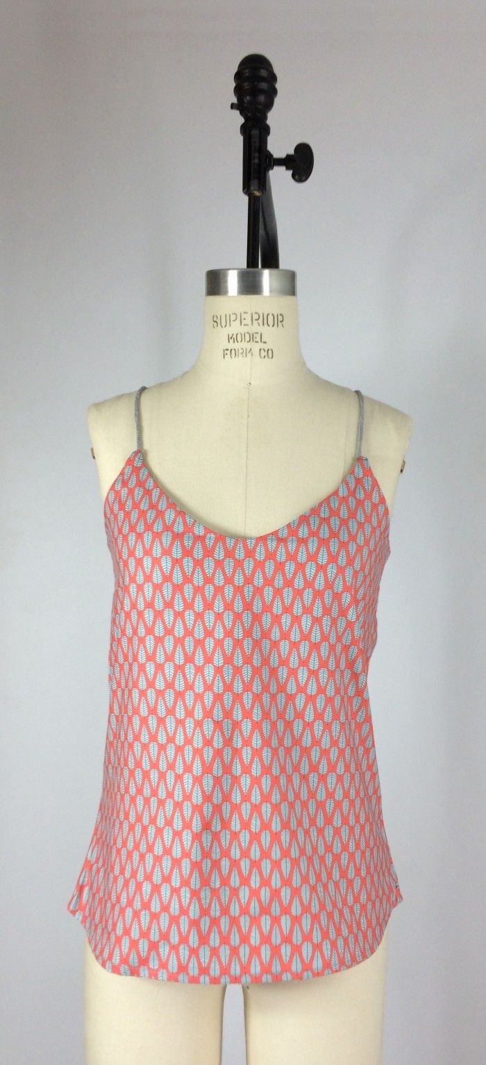 Free Spaghetti Strap Tank Top Shirt Seeing Pattern and Tutorial