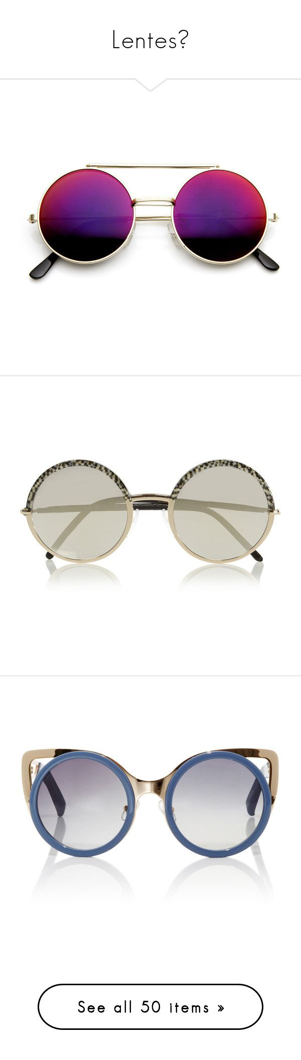 """Lentes☻"" by infinito01 ❤ liked on Polyvore featuring accessories, eyewear, sunglasses, glasses, round sunglasses, round circle sunglasses, revo sunglasses, retro round sunglasses, circular sunglasses and sunnies"