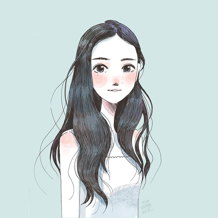 Little Oil,illustration,art,drawings,cute girl ...