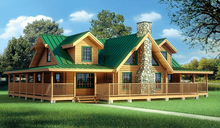 Log homes floorplan details hochstetler milling for for Three story log cabin