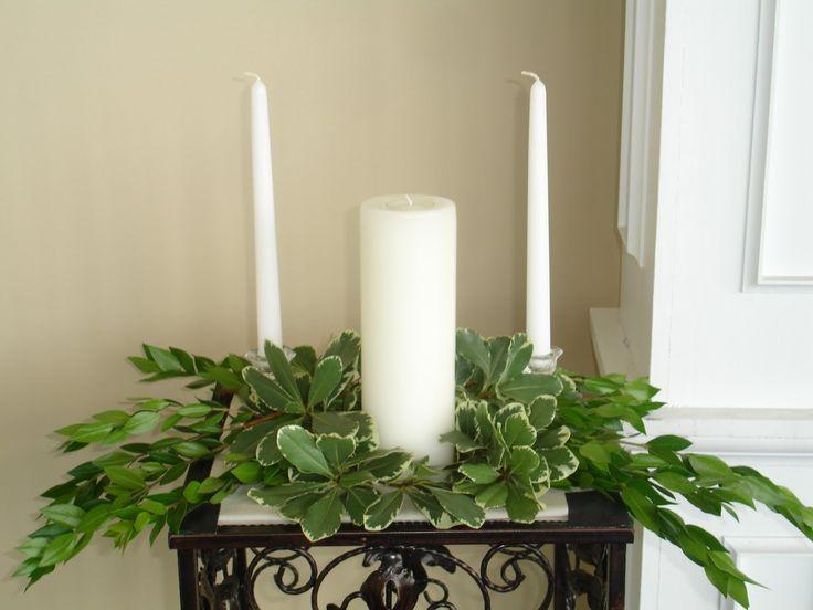 Unity Candles | floral arrangement ideas around unity candles Aisle and Unity Candle ...