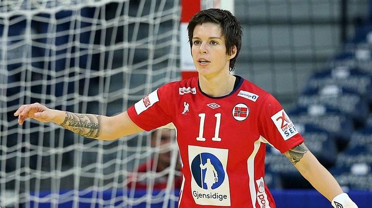 Norwegian handball player Anja Edin. She's so beautiful, and great at the sport.