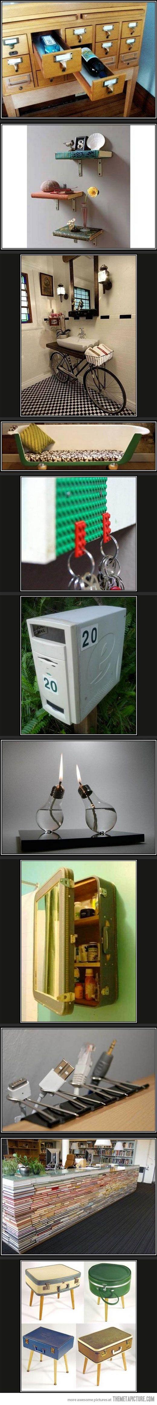 Creative ways to repurpose old stuff...