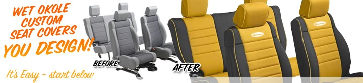 Wet Okole Neoprene Jeep Seat Covers - Quadratec --- Jeep needs new seat covers.