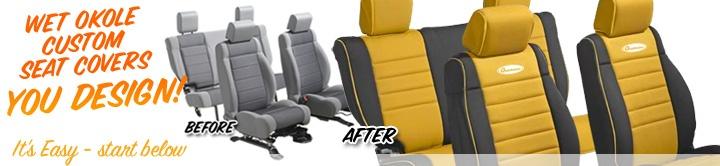 Wet Okole Neoprene Jeep Seat Covers - Quadratec --- Jeep needs new seat covers.