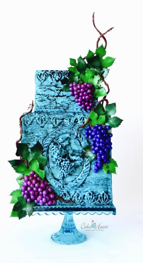 Grapes for Childen  Sugar Art for Autism Collaboration 2017 by Cake Heart