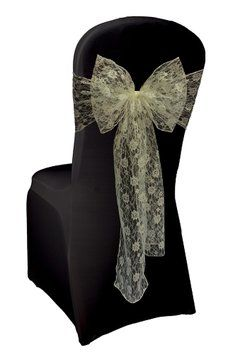Lace Chair Sashes $465