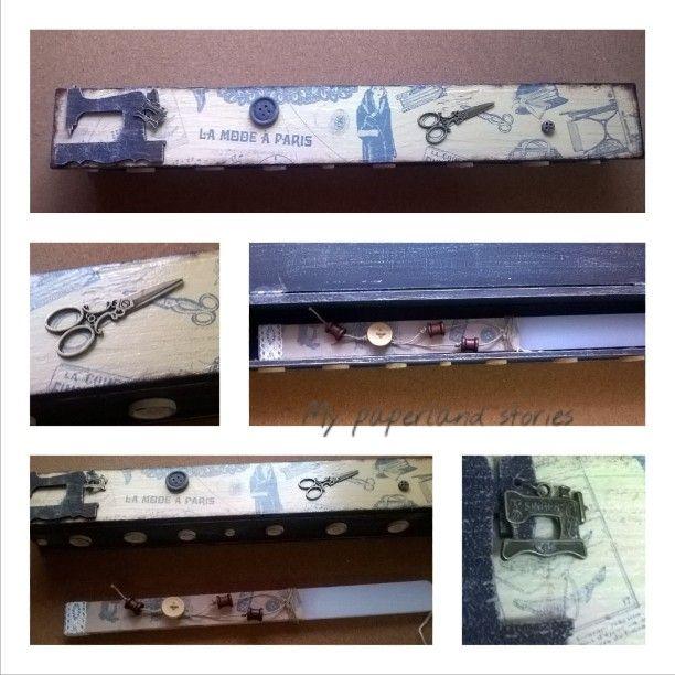 #vintage λαμπάδα + λαμπαδοκουτο με θέμα  ραπτική!!!!  #hautecouture #sewingmachine #sewing #scissors ✂ #singer #handmade #diyfashion #sewist #sewinglifestyle