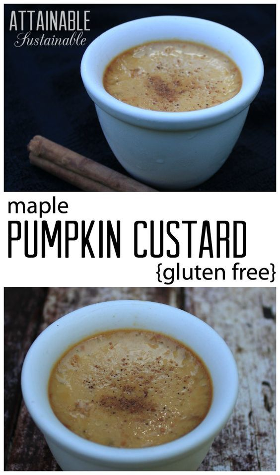 This pumpkin custard dessert has been a holiday go-to for us for years. It always garners raves, plus it's gluten free and easy to make. We've come to prefer it over pumpkin pie!