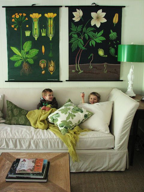love those botanical postersLamps, Living Rooms, Botanical Prints, Green, Livingroom, Botanical Charts, Lauren Liess, Black, Puree Style