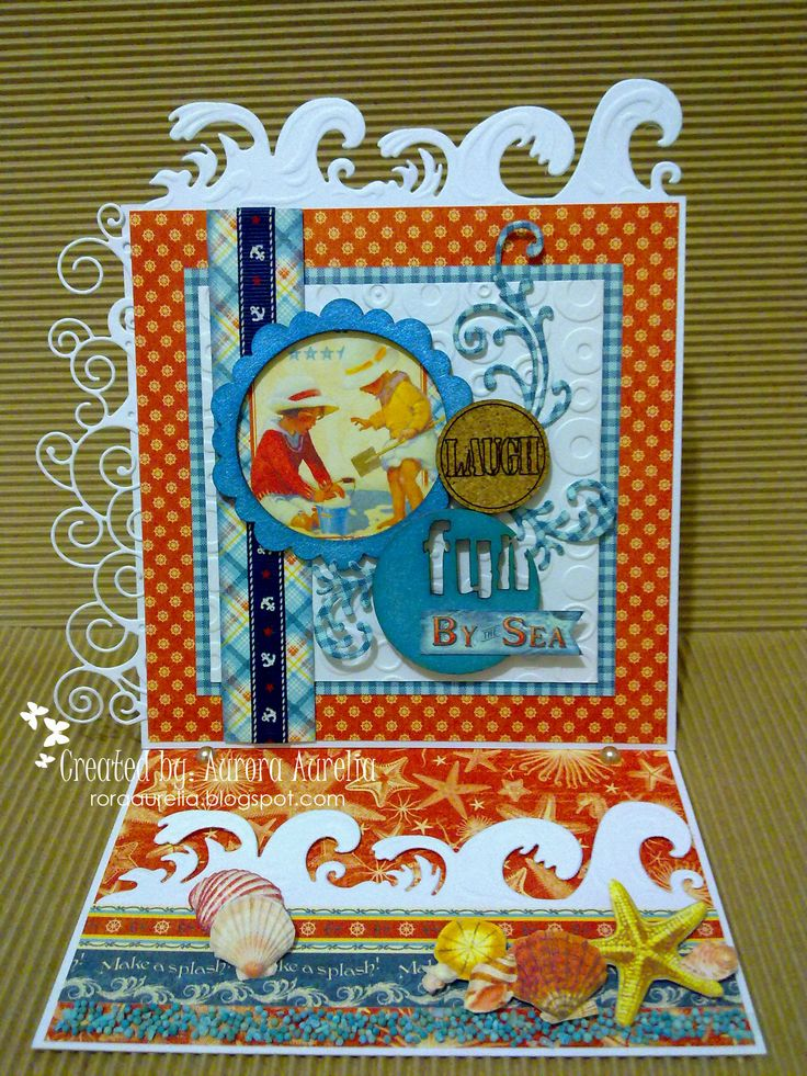 #EaselCard using #ByTheSea collection from #Graphic45