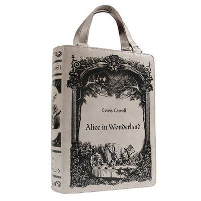 Restyle Alice In Wonderland boek tas grijs - Gothic Fantasy - Restyle