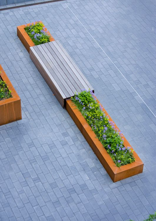 planter/bench (for central courtyard)