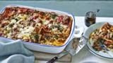Mary Berry's wonderfully different take on lasagne is super quick, perfect for a midweek supper.   Equipment and preparation: for this recipe you will need a shallow 2¼ litre/4 pint ovenproof dish measuring about 30x20cm/12x8in and 6cm/2½in deep.