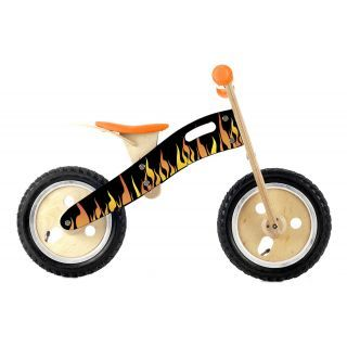 Your super cool dude will love flying around on this eco-friendly wooden balance bike!