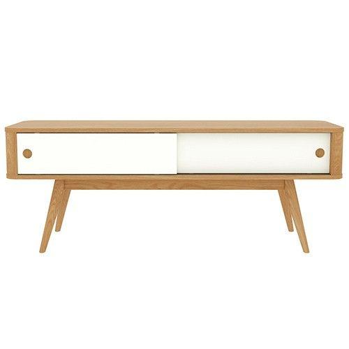 Stockholm 120 cm Entertainment Unit - Oak & White - Scandinavian Furniture 7% OFF   $389.00 - Milan Direct