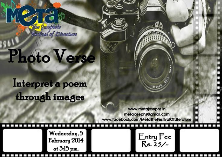 PHOTO VERSE.interpret a poem through images  Wednesday 5th Feb  .3:15