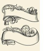 Engraved Scrollwork Banners